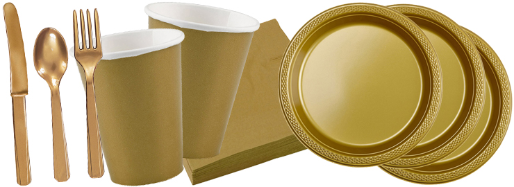 Party dekoration gold festbedarf nach farben themen shop hochzeit themen shop party - Dekoration gold ...