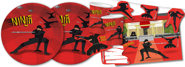 Kinder-Party Schwarzer Ninja