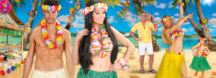 Hawaii-Party Motto-Party Produkte Shop - Party-Discount.de