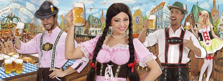 Perücke Adelheid mit geraden Zöpfen Zopfperücke braun Bayern-Perücke