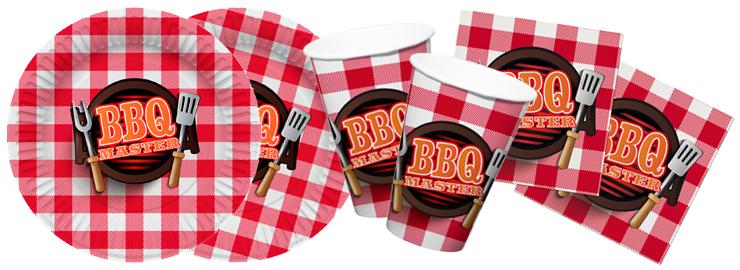 Wimpelkette Grillbesteck Girlande Dekokette BBQ Master Grillparty Geburtstag