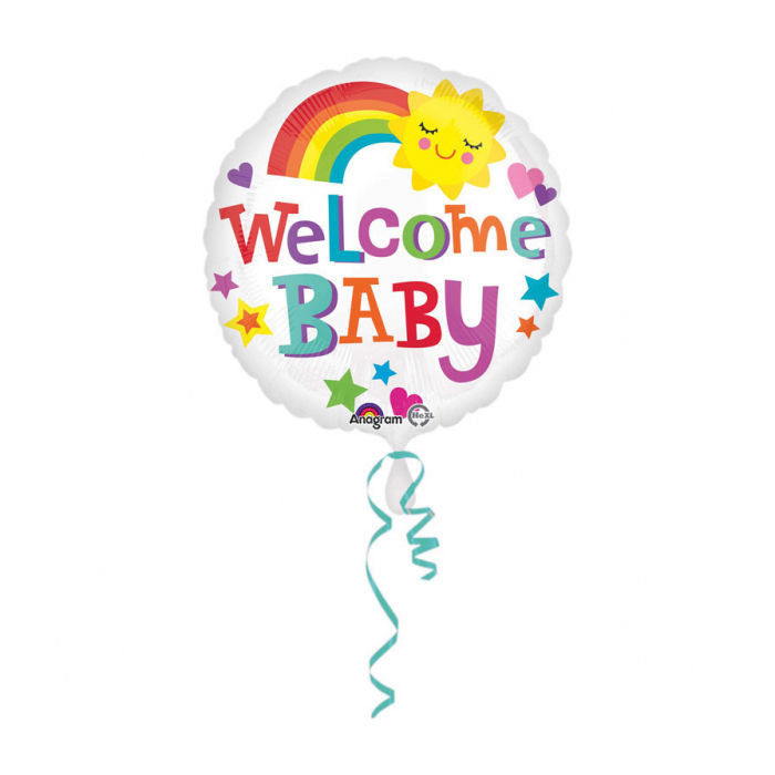 Folienballon Welcome Baby, ca. 45 cm