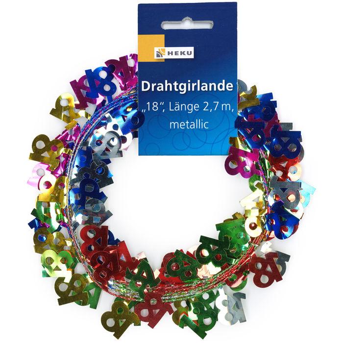 "Metallic-Girlande /""70 Geburtstag/"" 270 cm"