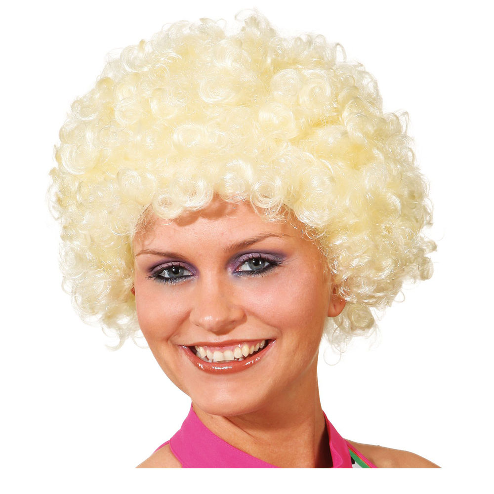 Perücke Unisex Clown, Afro Hair, kleine Locken, blond