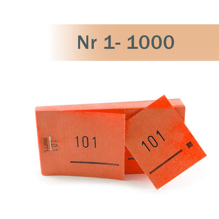 Doppelnummern-Block 1000 Abrisse Nr 01-1000 orange