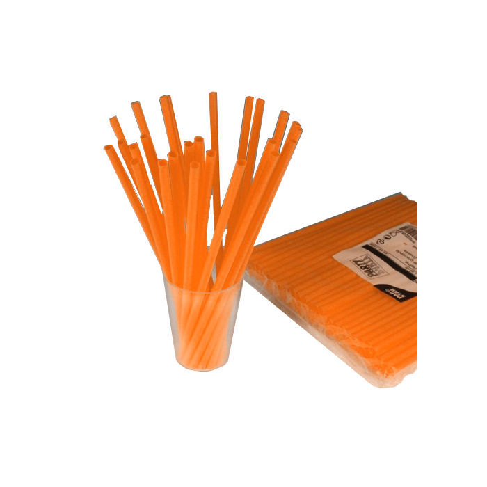 SALE Trinkhalme Shake orange Ø 8mm 25cm 135 Stk.