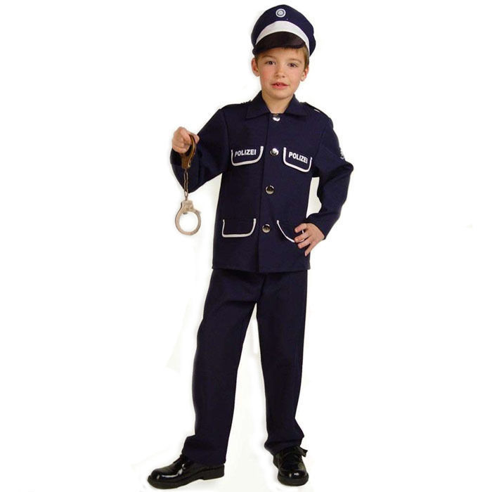 Kinder Kostum Polizist Petersen 3 Tlg Gr 104 Polizist Feuerwehr