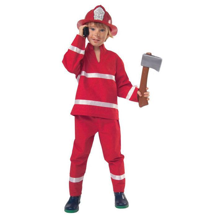 Kinder Kostum Feuerwehr Rot 2 Tlg Gr 98 Polizist Feuerwehr