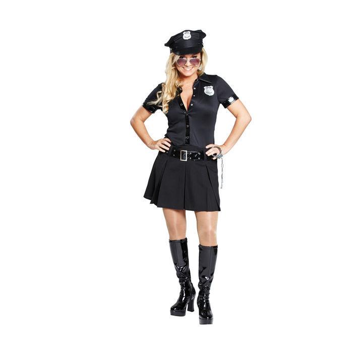 damen kost m sexy polizistin schwarz gr 38 polizei fbi str fling kost me nach themen. Black Bedroom Furniture Sets. Home Design Ideas