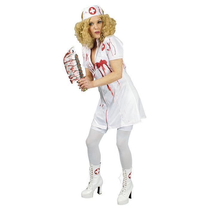 damen kost m zombie krankenschwester gr 44 46 verkleidungs sets halloween halloween kost me. Black Bedroom Furniture Sets. Home Design Ideas