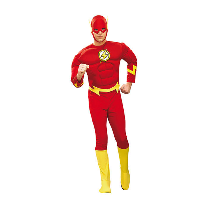 herren kost m the flash deluxe gr l superhelden. Black Bedroom Furniture Sets. Home Design Ideas