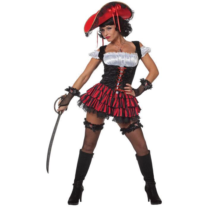 damen kost m sexy piratin liana gr 38 pirat piratin musketier kost me nach themen kost me. Black Bedroom Furniture Sets. Home Design Ideas