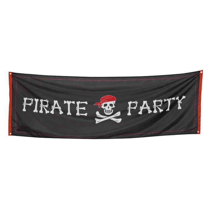 Banner Pirate Party 74 x 220 cm