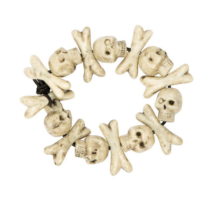 Armband Schädel und Knochen - Halloween-Accessoires Halloween-Shop ...