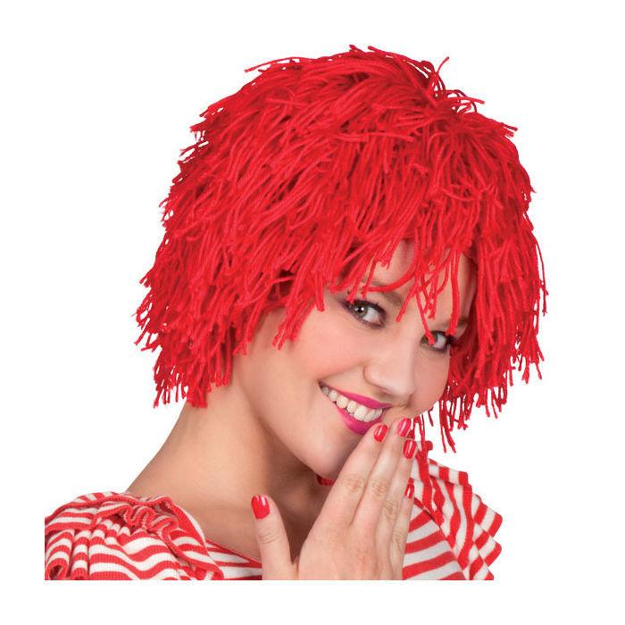 Per cke clown fuzz aus wolle rot alle per cken per cken for Clown schminken bilder