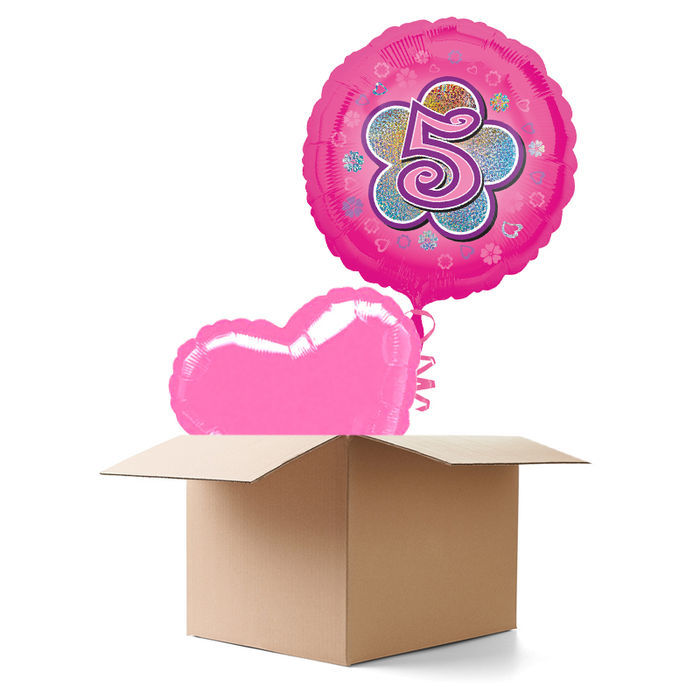 Ballongrusse Happy Birthday Madchen 5 2 Ballons Luftballon Grusse