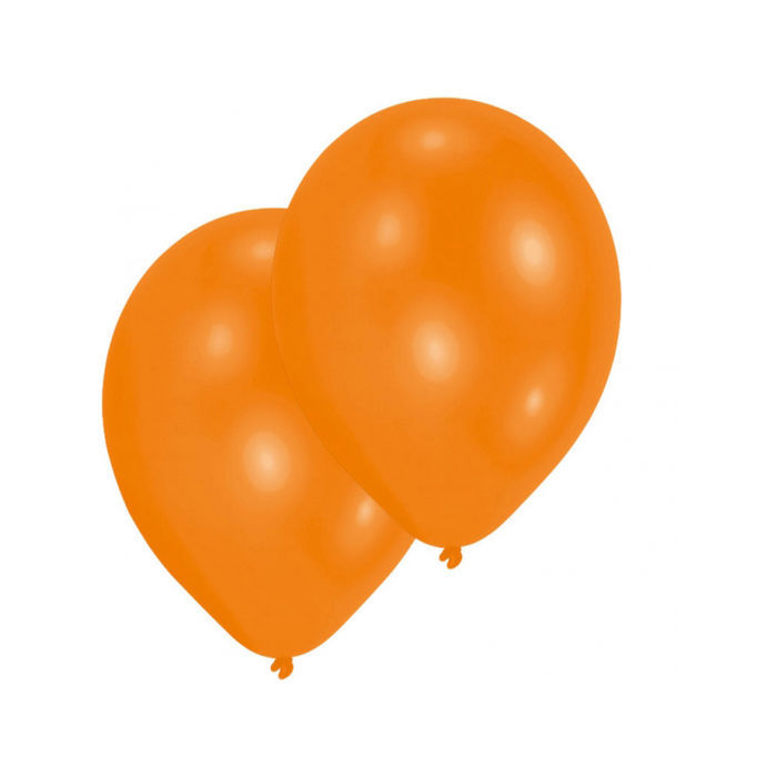 Luftballon orange 10er-Pack, Umfang 75/85 cm
