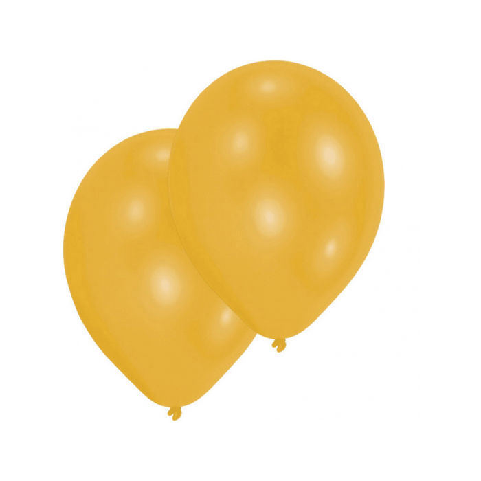 SALE Luftballon gold 10er-Pack, Umfang 75/85 cm