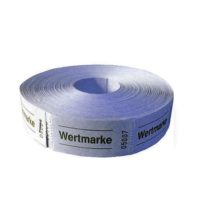 blau PARTY DISCOUNT Rollen-Gutscheine Wertmarke 1000 Abrisse 1 Rolle