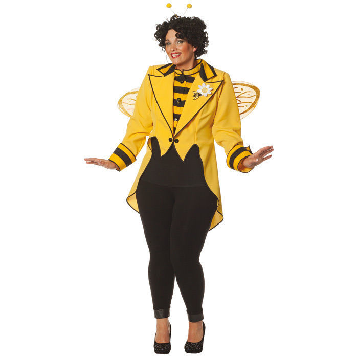 Damen Kostum Bienen Frack Gelb Gr 54 56 Tierkostume