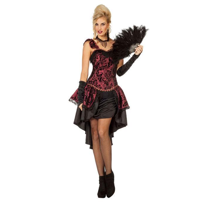 Damen Kostum Burlesque Gr 38 Hexenkostume Halloween Kostume