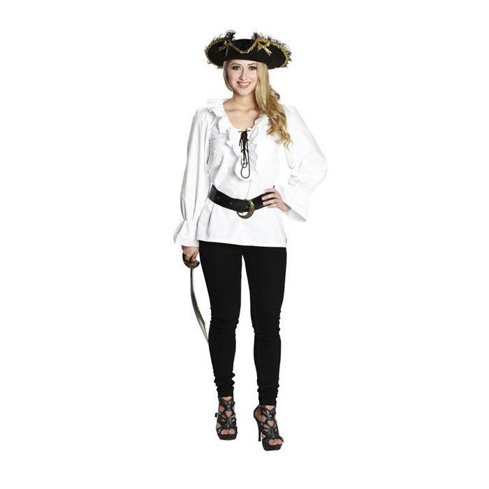 damen bluse piratin mit r schen wei gr 42 pirat piratin musketier kost me nach themen. Black Bedroom Furniture Sets. Home Design Ideas
