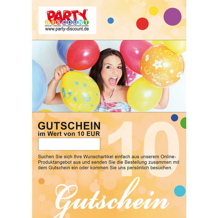 online gutschein party discount