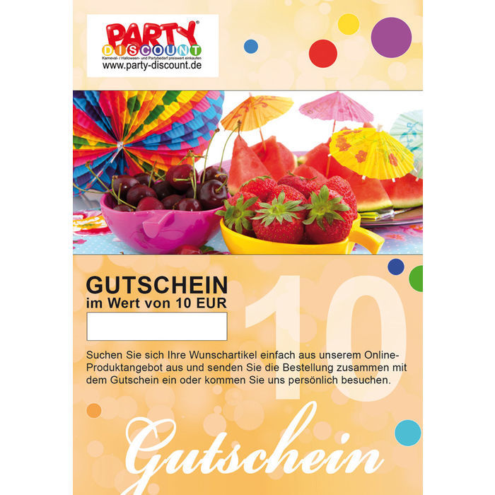 gutschein party discount