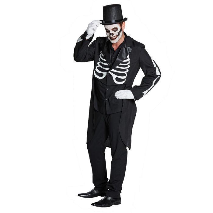 sale herren kost m skelett frack schwarz kost me gro e gr en kost me verkleiden. Black Bedroom Furniture Sets. Home Design Ideas