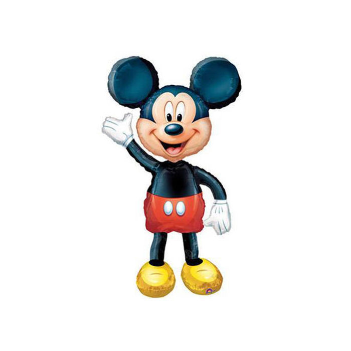 Folienballon Airwalker Mickey, ca. 52 x 132 cm