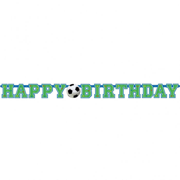 Girlande Happy-Birthday Fußball Party