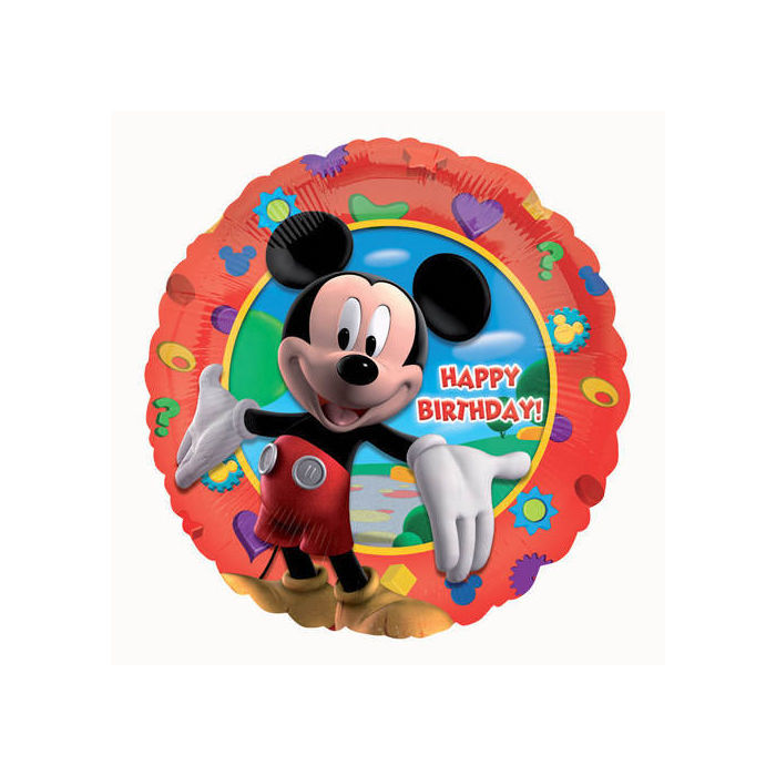Folienballon Mickey's Clubhouse Birthday ca. 45cm