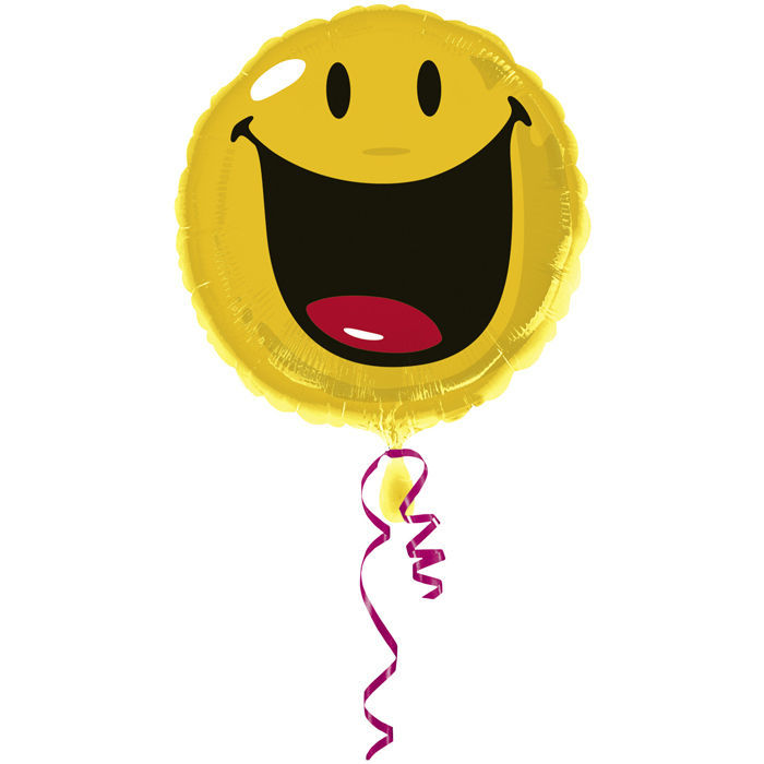 Folienballon Smiley, ca. 45 cm