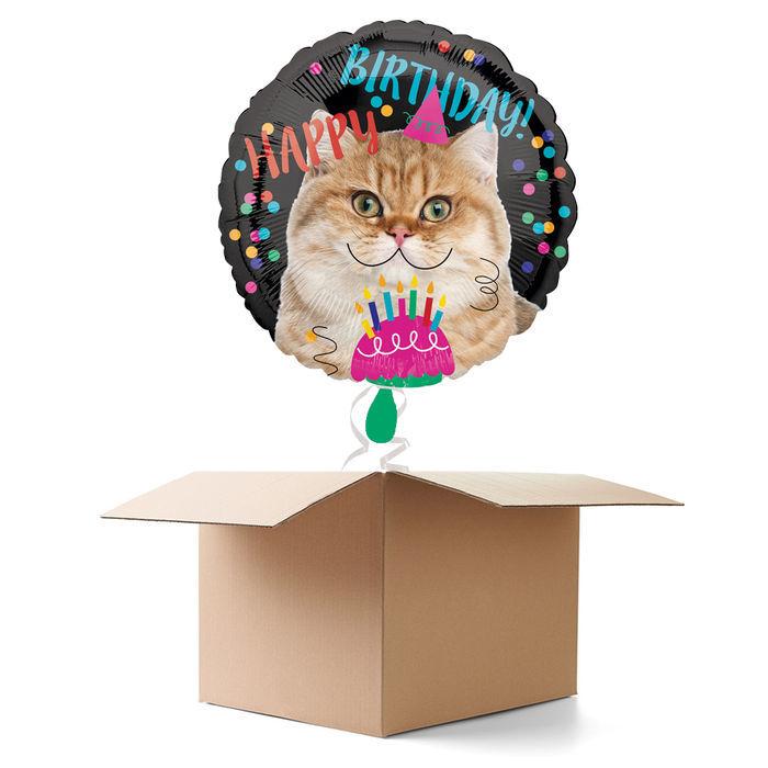 NEU Ballongrusse Happy Birthday Cat 1 Ballon