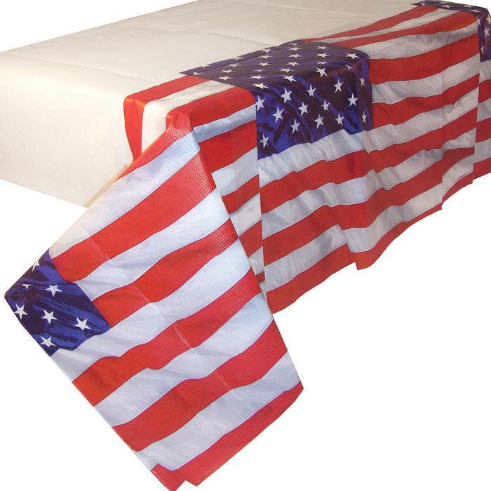 tischdecke usa aus papier tischtuchpapiere party geschirr tischtuch geburtstags party. Black Bedroom Furniture Sets. Home Design Ideas