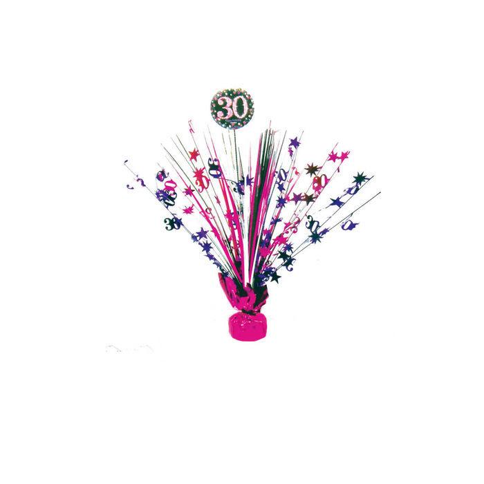 Tischdeko Sparkling Pink 30 45cm Kaskade 30er Geburtstag
