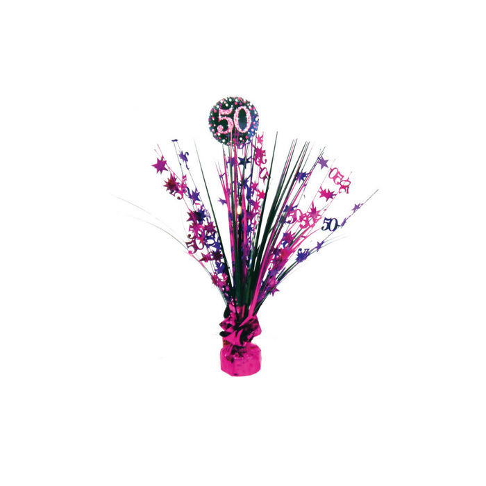 Tischdeko Sparkling Pink 50 45cm Kaskade 50er Geburtstag