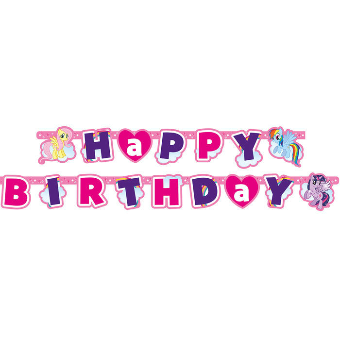 Girlande Happy B.day My Little Pony, 160x11cm Bild 2