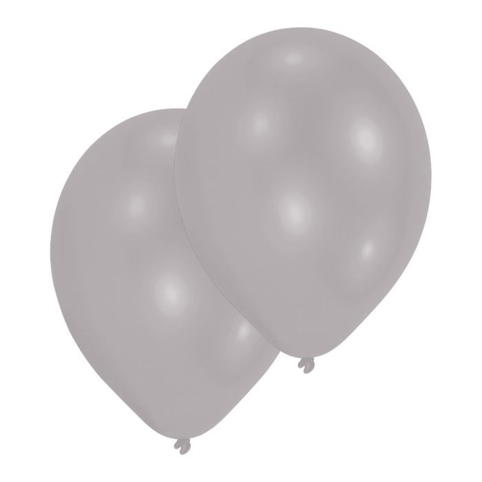 Luftballon Metallic-Silber, 10er-Pack