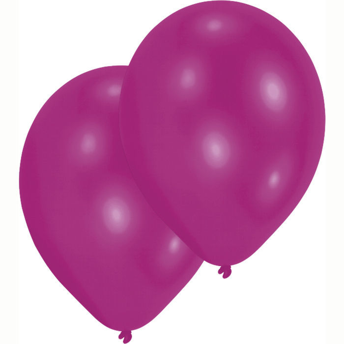 Luftballon Metallic-Magenta, 10er Pack