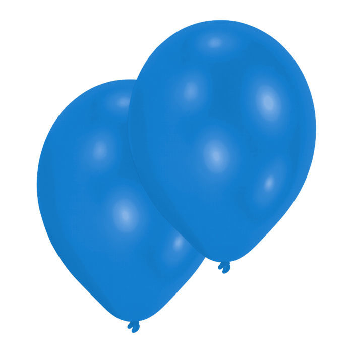 Luftballon Metallic-Blau 10er-Pack