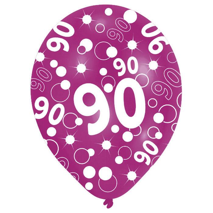 SALE Luftballon Happy 90th Birthday Bunt 6 Stk