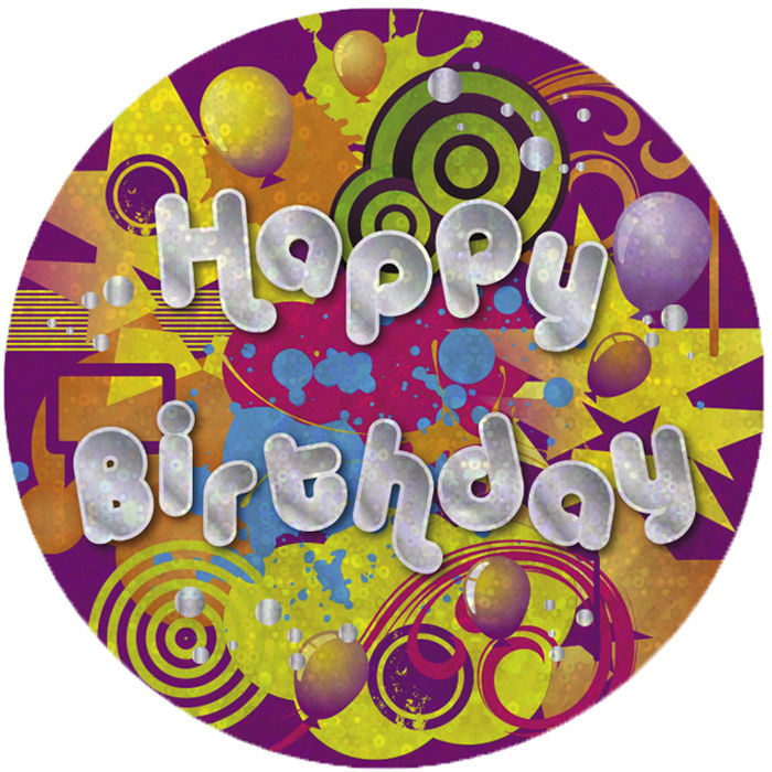 SALE Button Happy Birthday 55 mm