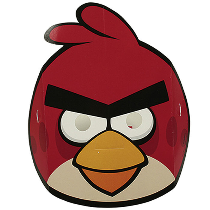 SALE Masken Angry Birds aus Pappe, 6 Stk.
