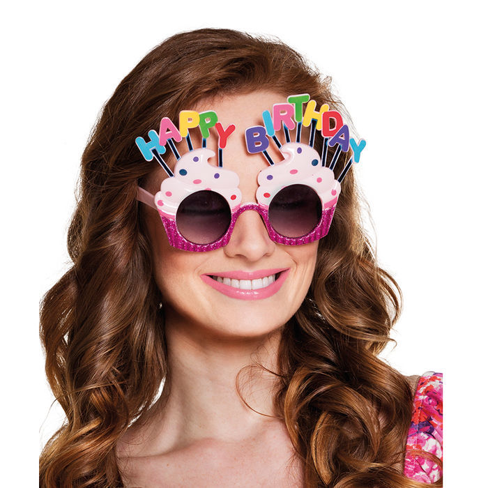 Brille Happy Birthday Törtchen Bild 2