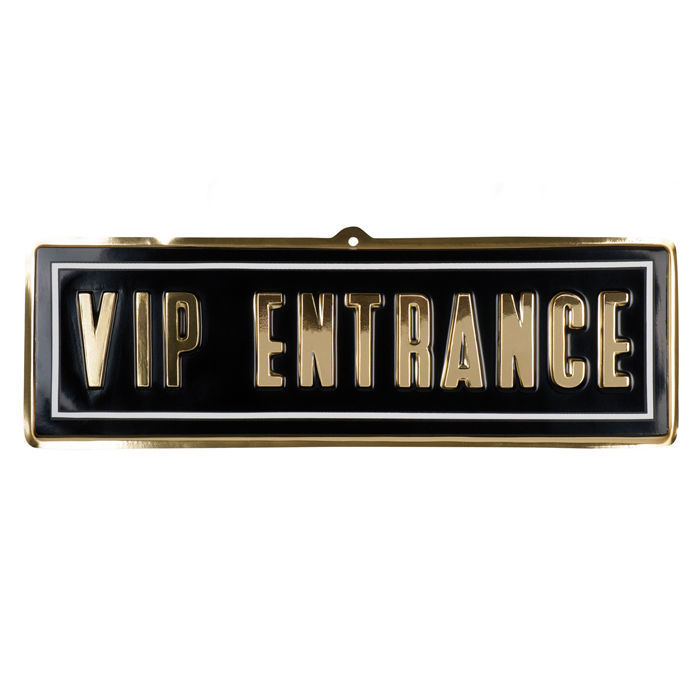 sale wand deko vip entrance aus pvc 20 x 60 cm gro e hollywood deko hollywood party motto. Black Bedroom Furniture Sets. Home Design Ideas