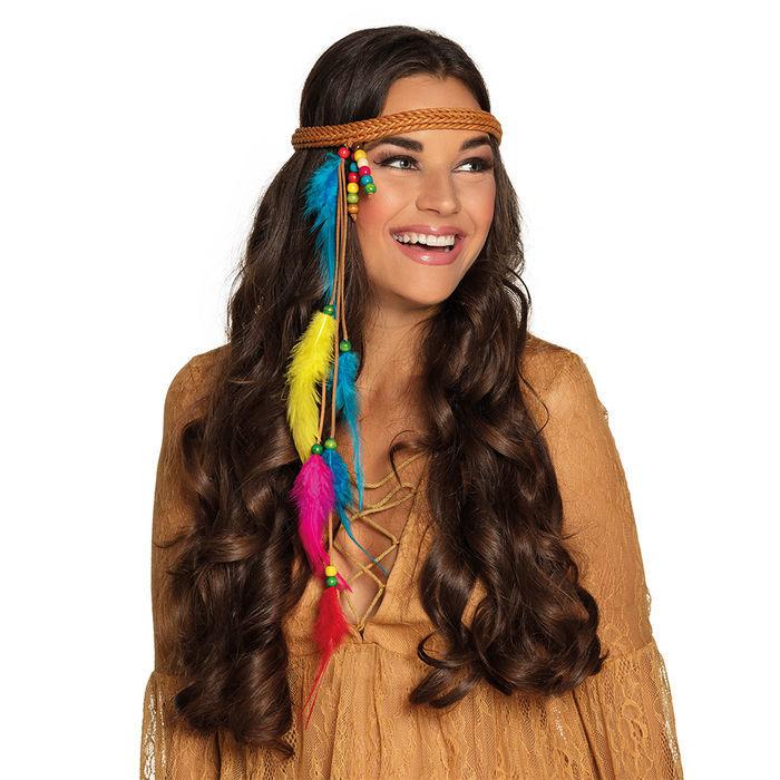 4c9766d15aea66 Haarband Hippie mit bunten Federn - Schmuck, Kronen, Diademe Kostüm ...