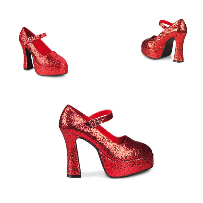 SALE Schuhe Disco mit Plateausohle rot Gr. 39