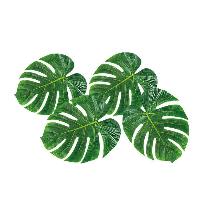 palmenbl tter 4 st ck 33x27 cm hawaii beachparty deko hawaii party motto party produkte. Black Bedroom Furniture Sets. Home Design Ideas