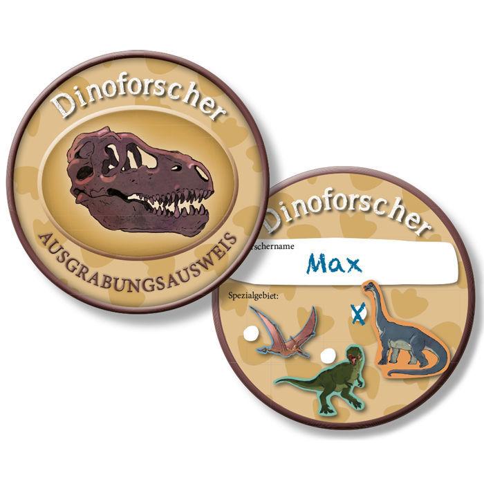 086fc9055f51d2 Ausweis Dino-Forscher, 6 Stück - Mitgebsel / Give-aways Kinder-Party ...